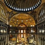 Istanbul – The inside of the super impressive Hagia Sophia