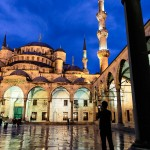 Istanbul – In the court of the Sultan Ahmed Mosque – our dear friend Nuno takes nice images