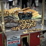 Istanbul – Corn and chestnuts at a street stand