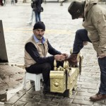 Istanbul – A man polishing shoes on the street