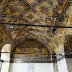 Istanbul – Inside the Hagia Sophia beautiful patterns painted on the ceiling