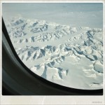 The flight back – somewhere over Greenland