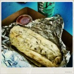 My first breakfast burrito ever – quite delicious :-)