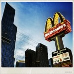 McDonalds and skyscrapers in Las Vegas