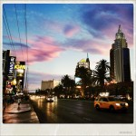 Beautiful sky after sunset in Las Vegas